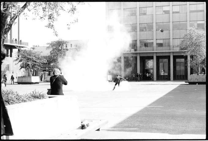 Photographer & Tear Gas